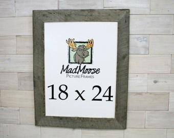 "18x24  BarnWood [Thin x 3""] Picture Frame"