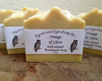 Orange & Clove with Oatmeal handmade soap