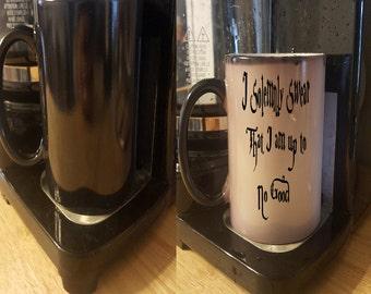 I Solemnly swear that I am up to no good  - Color change - Harry potter mug - solemnly swear mug - harry potter quote mug - book lover mug
