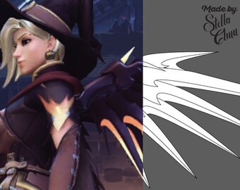 Mercy Halloween Witch Skin Wings Instructional Pattern for Cosplay