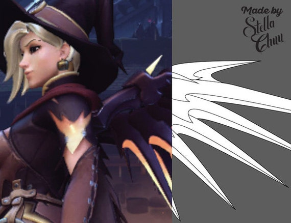 Mercy Halloween Witch Skin Wings Instructional Pattern for