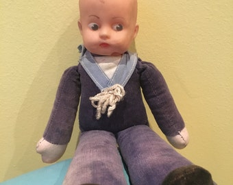 Vintage Rubber Face Sailor boy Toy
