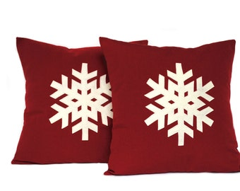 One Snowflake Christmas Pillow cover, holiday pillow, decorative pillow, cushion, Christmas decoration