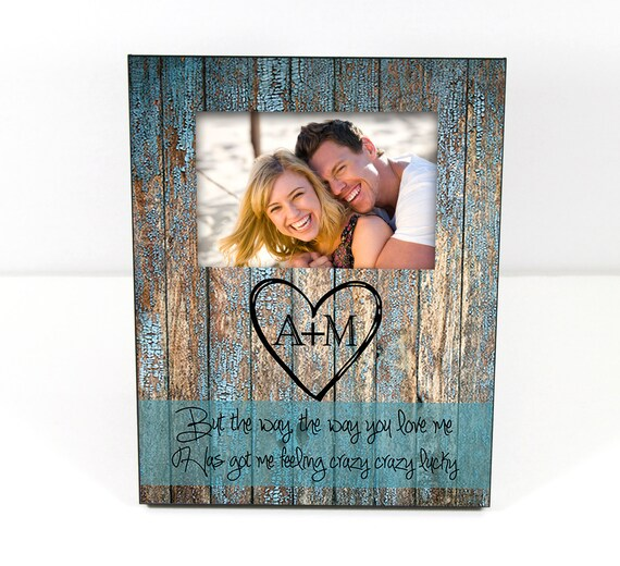 Christmas Gift for Husband Custom Photo Frame Use Your Own Quote Personalized Picture Frame Rustic Wood Look Custom 8 x 10 w/ 4 x 6