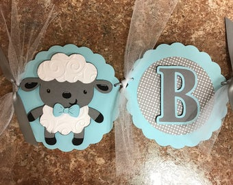 Baby Lamb banner, Baby shower banner, Lamb banner