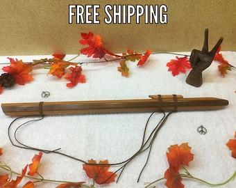 Native American Style Flute, Wood Flute, F# flute, Cherry Walnut Flute, Handmade Flute, Native Style Flute
