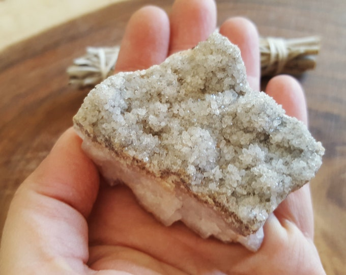 Citrine Cluster (Druze) ~ 1 Reiki infused cluster approximately 2.3x1.8x1.2 inches (CD16)