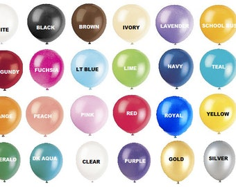 "12"" latex balloons: 15 count latex balloons, you choose the colors, latex balloons, party balloons, helium balloons, wedding balloons"
