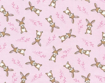 Little Bunnies, & Easter Rabbits Cotton Fabric!  [Choose Your Cut Size]