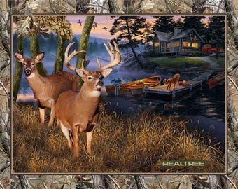 Realtree Cotton Fabric Panels by Print Concepts! 5 Options!  [Sold by the Panel]