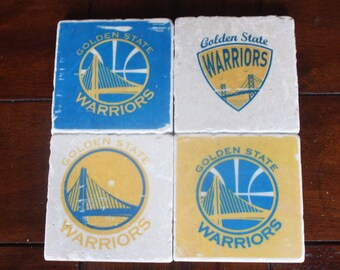 Golden State Warriors Marble Coasters FREE SHIPPING