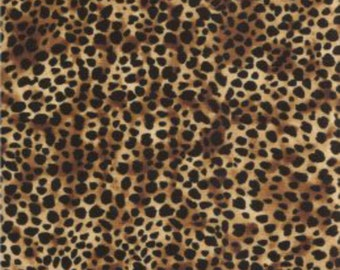 Leopardprint leopard big wild Timeless Treasures 0,5 m USA fabric pure cotton