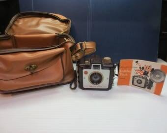 Kodak Brownie Holiday Flash Camera With Dakon Lens With Case Circa 1957