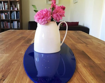 Oval Table Runner in Blue Gloss Finish 3mm Acrylic - 2 Sizes Available