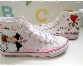 Wedding Converse Shoes Customized Sneakers Boyfriends