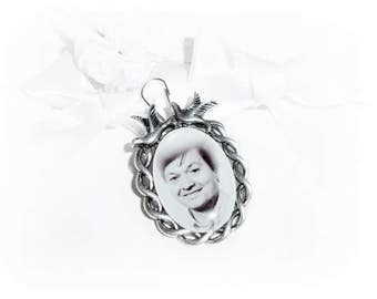 Memorial.Personalisierter bridal bouquet pendant