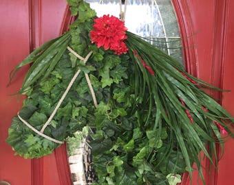 All Seasons Ivy Horse Wreath