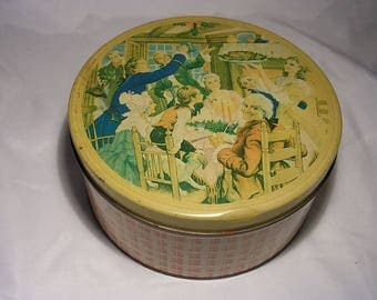 1930's Bond Baking Co. Cookie Tin Can