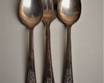 Silver Plate Spoons and Fork
