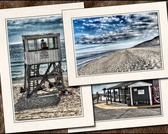 3 Nauset Beach Photo Note Card Set - 5x7 Nauset Beach Note Card - Orleans Cape Cod Note Cards With Envelope - Greeting Cards Handmade  (OR2)