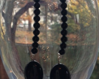 Black Agate Wire Work Earrings