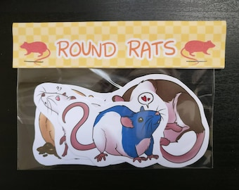 Round Rats - 4 Sticker Pack