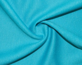 """Tiffany Blue Ponte Di Roma Double Knit Polyester Rayon Spandex Lycra Stretch Medium Weight Apparel Craft Fabric 58""""-60"""" Wide By The Yard"""