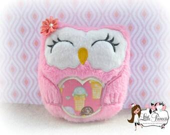 Owl Stuffie, Owl Plushie, Ice Cream, Gifts, Girl Owl, Stuffed Animal