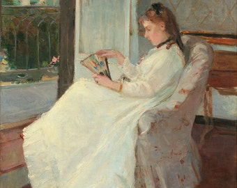 "Berthe Morisot : ""The Artist's Sister at a Window"" (1869) - Giclee Fine Art Print"