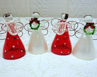 CLEARANCE - Vintage Hand Blown Glass ANGELS Christmas Decor Ornaments ~ Last 4