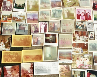 Collection of Retro Photographs. 1960s Photographs. Vintage Photographs. Large Lot of Portrait Photographs. Paper Ephemera.