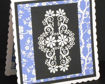 This is an 8 x 8 All Occasions Card With Matching Insert