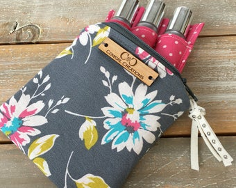 Petite Essential Oil Bag, essential oil case, carrying case, holder, roller bottles, travel bag, 15ml bottles, purse organizer, small, mini