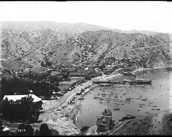 Santa Catalina Island, 1905, Avalon Harbor, Early 1900's, California