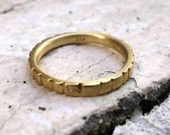 Wedding Band Gold Promise Band Wedding Ring Set Solid Gold band Unique Women Wedding Ring Unique mans wedding band His and hers wedding band