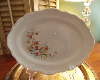 Platter - Oval CHINA SERVING PLATE Reto Floral Design