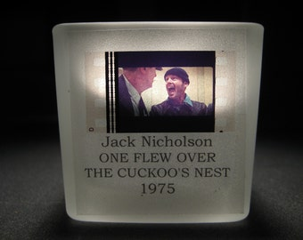 Jack Nicholson - One Flew Over the Cuckoo's Nest - Glass Tea Light - Film Cell