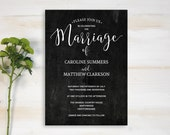 Chalkboard Wedding Invitation Printable Wedding Invitation Wedding Invitation Template Editable Wedding Invitation DIY Wedding Invite
