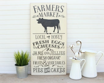 Farmers Market Sign, Farmhouse Decor, Farmhouse Sign, Rustic Farmhouse Wall Decor