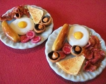 Barbie doll  food breakfast 'full English' for two