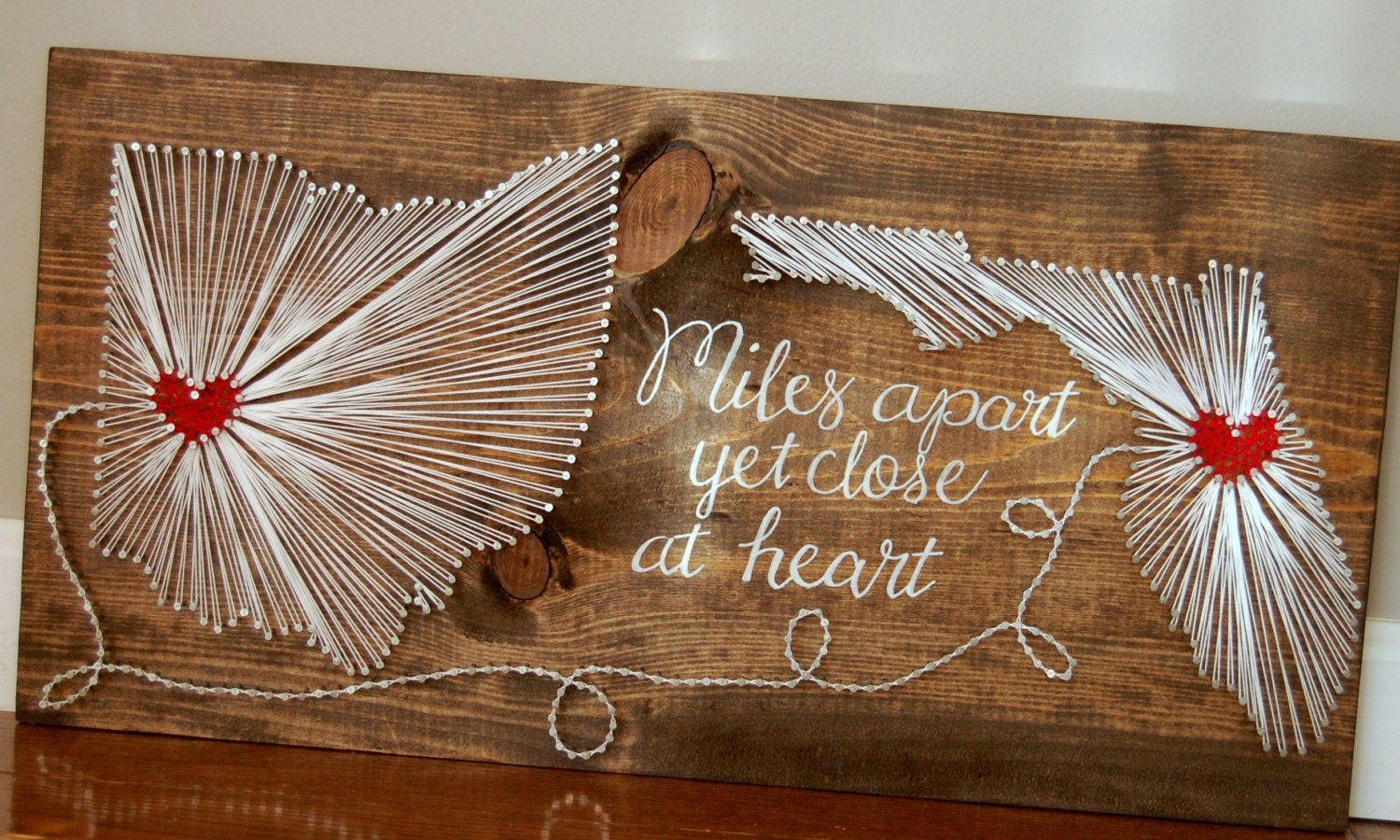How To Do String Art Two State String Art Etsy State String Art Vanilla Vodka And Love