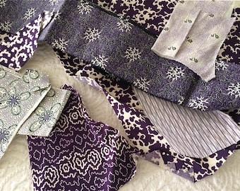 1860's Purple Calico Scraps
