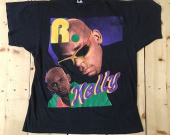 Rare Vintage 90s R. Kelly Down Low (No Body has to Know) Original Rap Tee Classic T Shirt - Medium
