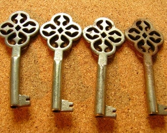 Vintage 4 Old Skeleton Keys