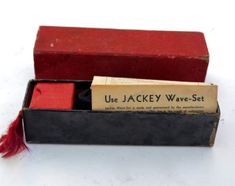 Antique Finger Wave Jackey Wave Setter 1920's Hair Curling Tool in Original Box