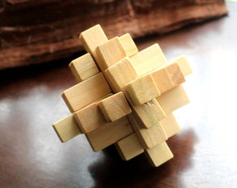 Wooden puzzle, magic cube, patience
