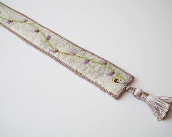 Felt Bookmark, Page Marker, Handmade Felt, Embroidered Felt Bookmark, Gift For Book Lover, Mothers Day Gift, UK Seller