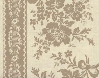 Moda Quilt Fabric - French General  - Fa La La La - Oyster Stripe - 13582-14 - By the Yard
