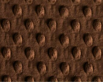 DESTASH Minky Fabric Remnant Squares Dimple Dots Brown Fleece, Minky Charm Squares Pillow & Quilt Fabric Remnant