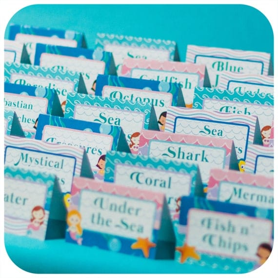 Under the sea party food tents little mermaid pdf birthday party il570xn forumfinder Images
